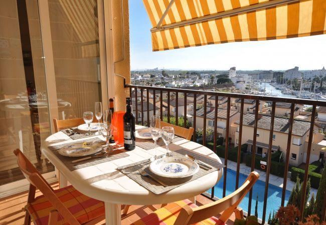 Apartament en Rosas / Roses - 1049 MEDITERRANI vista Piscina