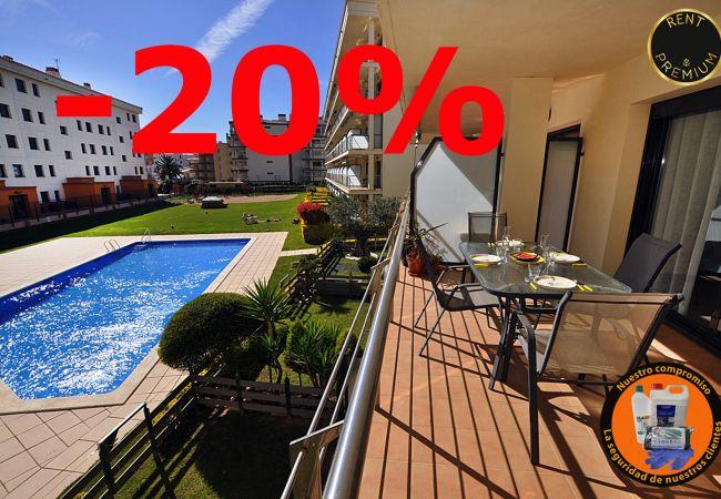Apartament en Rosas / Roses - 1132 MILENI vista Piscina